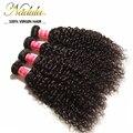 Extensión del pelo rizado mongol 7a pelo de la virgen teje 3 Unids/lote barato extensiones de cabello humano extensiones de cabello nadula belleza para siempre