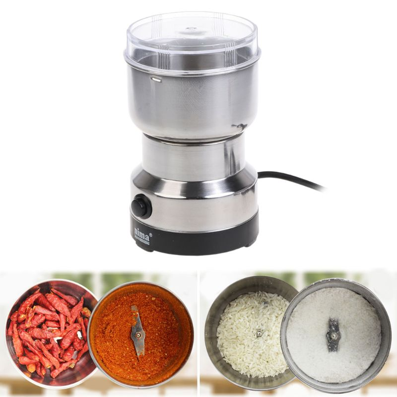 Coffee Grinder Stainless Electric Herbs/Spices/Nuts/Grains/Coffee Bean Grinding|coffee grinder|grinding coffee beans|grinder stainless - title=