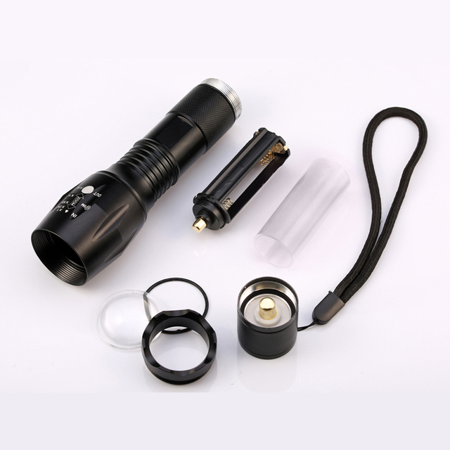 8000 Lumens Flashlight 5-Mode CREE XM-L T6 LED Flashlight Zoomable Focus