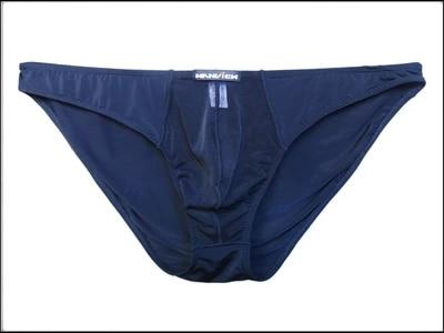 Men's Underwear Transparent Men's  Ice Silk Crotch Sensual Low waist Ultra thin Silk men underwear gay underwear mens underwear
