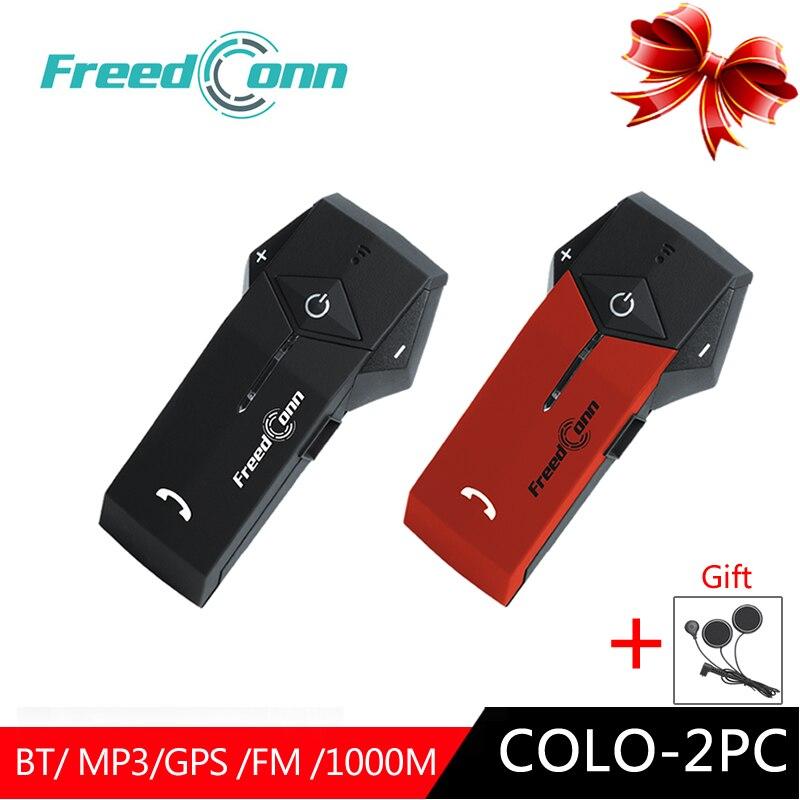 2 pièces 100% D'origine FreedConn COLO moto bluetooth Interphone Hemet Casque BT Écouteurs pour Casques Interphone FM Étanche