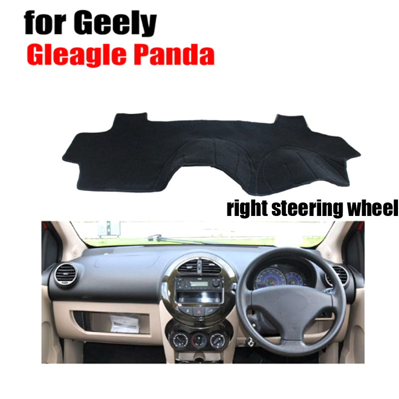Car dashboard covers mat for Geely Gleagle Panda all the years righ hand drive dashmat pad dash cover auto dashboard accessories