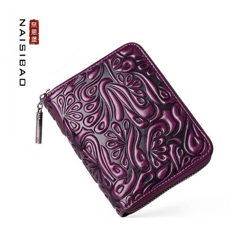 NAISIBAO nouveau Anti-vol brosse orgue carte sac dames multi-carte grande capacité anti-démagnétisation porte-carte en cuir carte set sac à main