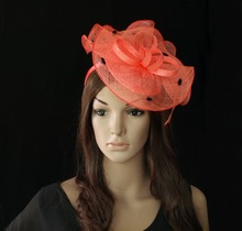 Buy coral sinamay and get free shipping on AliExpress.com 7a90bdc7405c