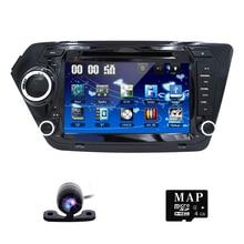 Car DVD Player for KIA RIO K2 with Radio, GPS Navigation, TV, SWC, BT, USB/SD, Russian menu,steering wheel,Free 8GB Map & camera