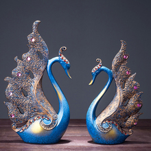 Nordic Swan Figurines Miniatures Resin Crafts Living room Wine Cabinet home decoration accessories wedding gift