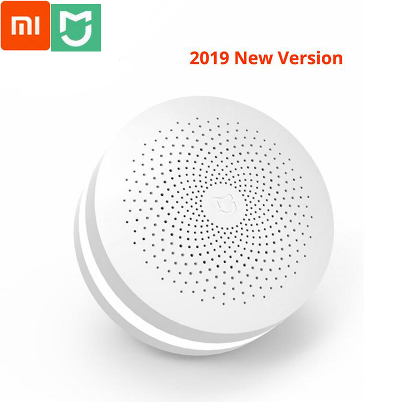 Xiaomi Mijia Multifunctional Gateway 2 Hub Alarm System Intelligent Online Radio Night Light Bell Smart Home Hub For Mijia App