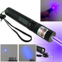301 purple Laser Pointer Pen Adjustable Focus Super Visible Beam 532nm Light Hot Sale