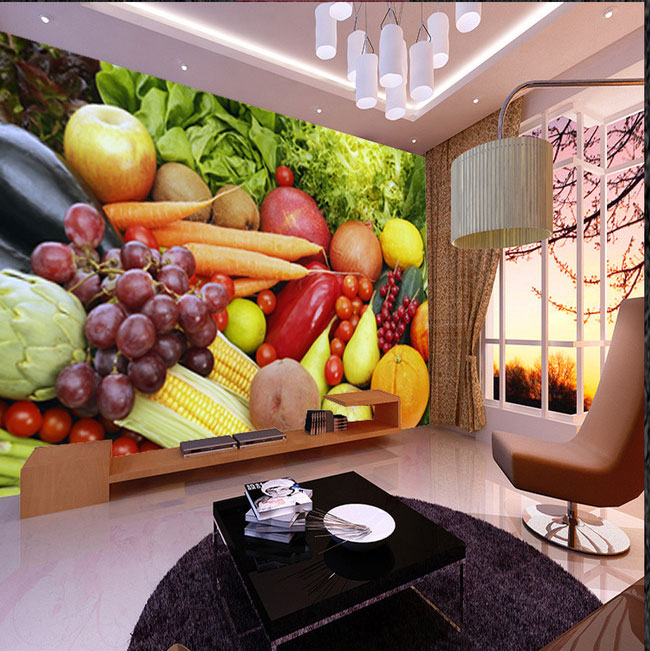 8d Large Vegetable&Fruit Wallpaper Mural 3d Photo Mural for Kitchen TV Sofa Background Fruit Shop 3d Wall Murals 3D Wall paper new arrival split leather fashion mens casual shoestop quality driving moccasins slip on loafers men flat shoes