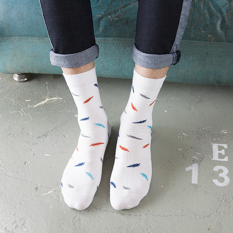 VERIDICAL 5pairs fashion mens combed cotton long socks men socks set colorful funny happy socks wedding sock business sock gift