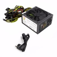 1300W Power Supply For 6GPU Eth Rig Ethereum Coin Mining Miner Dedicated Machine High Efficiency Stable Performance Mining Power