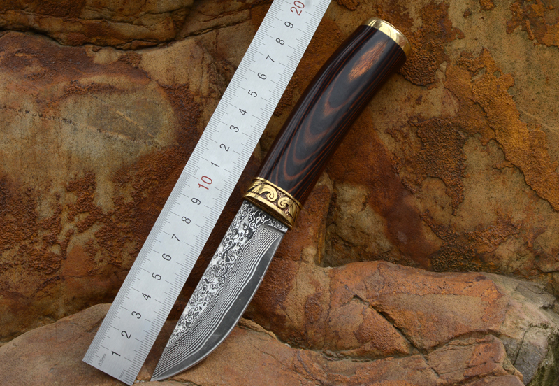 где купить Voltron Damascus Steel Knife hand-forged straight knife high hardness camping outdoor knife collection gift knife по лучшей цене