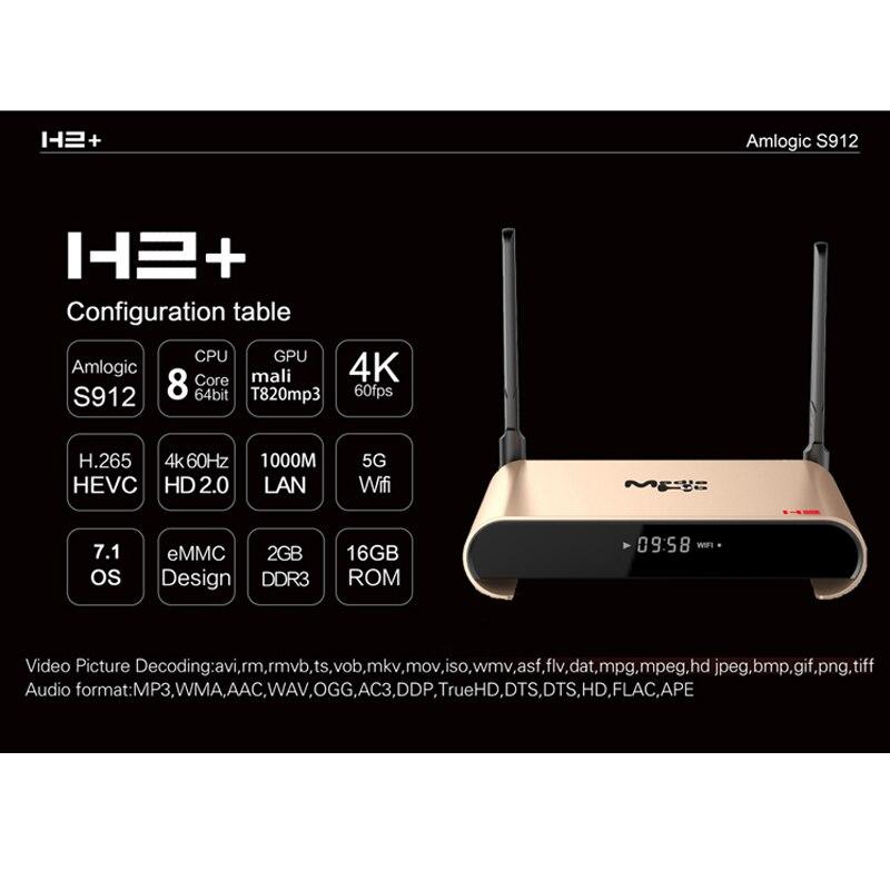 Сети ТВ телеприставке Многофункциональный плеер телеприставки коробок IP ТВ 1 год Бесплатная s912 Octa core android 7,1 WI FI 4 К HD 3d smart ТВ коробка