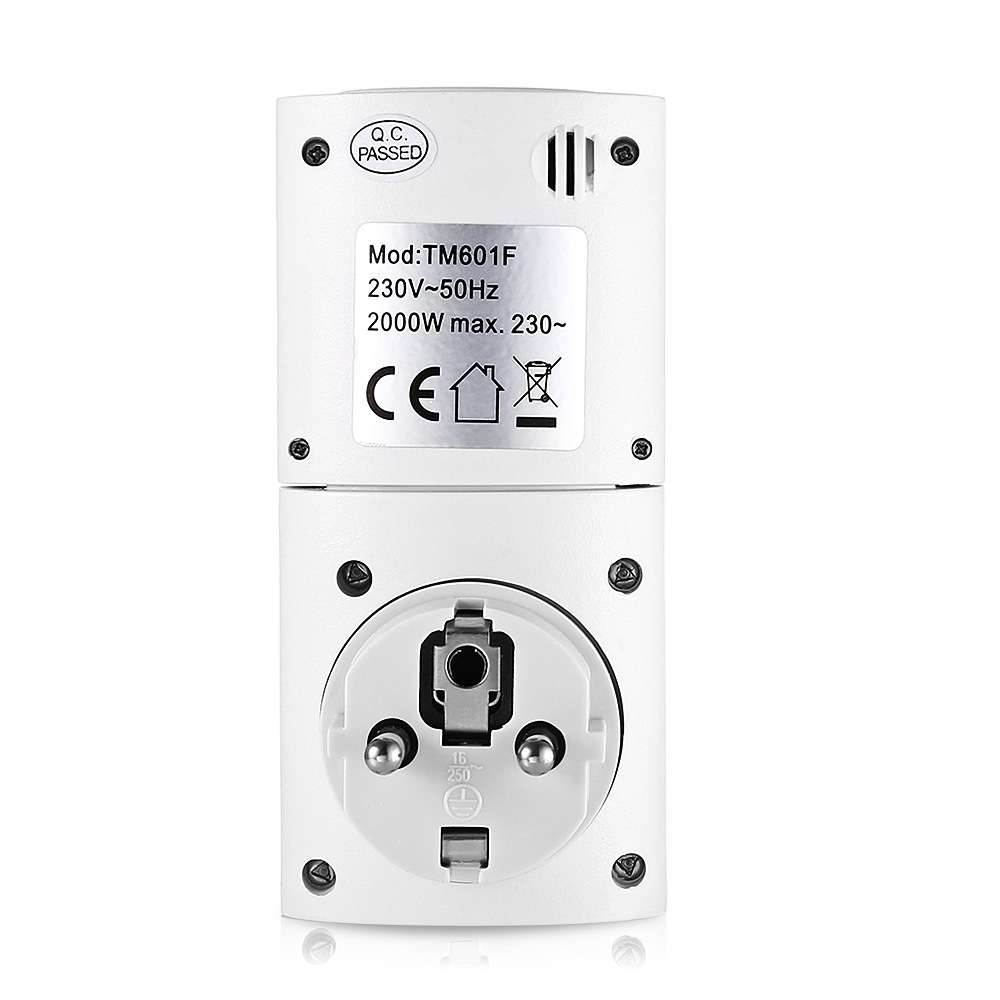 EU Smart Wall Socket Plug Outlet Built in lithium Battery 7 day ...