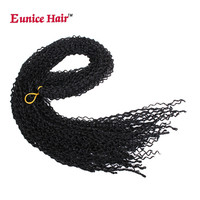 Eunice Box Braid Hair Extensions 28 Inch black brown #60 99J Synthetic Crochet Hair Braiding Kanekalon Braids 28 Strands/Pack
