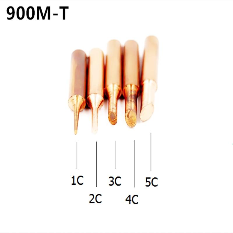 SZBFT Mix Punta de soldador diamagnética de cobre puro sin plomo Punta de soldadura 933.376.907.913.951,898D, 852D + Estación de soldadura
