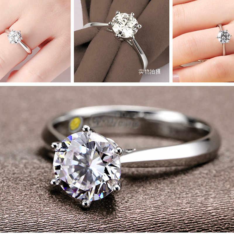 コスト価格女性レディ · ガール結婚指輪ラウンド立方ジルコン指リング非常に安い 925 スターリングシルバーファッションジュエリーギフト