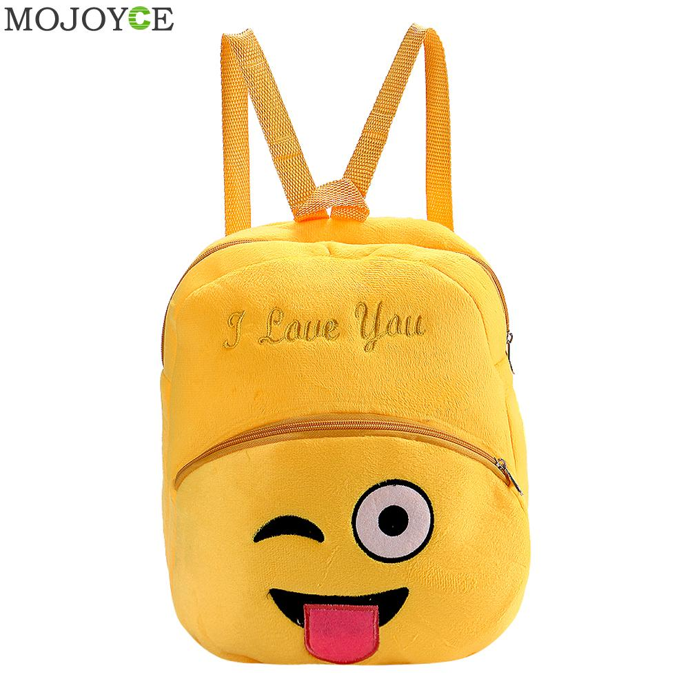 New Fashion Smile Emoji Face School Bag Children Emoji Backpack Expression Mochila Escolar Women Backpacks 3d Printing Bags