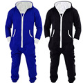 Das mulheres Dos Homens Unisex Com Capuz Zip Up Front Jumpsuit Onesie Pyjamas S--XL R303
