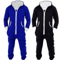 Womens Mens Unisex Hooded Zip Up Front Jumpsuit Onesie Pyjamas  R303  S--XL