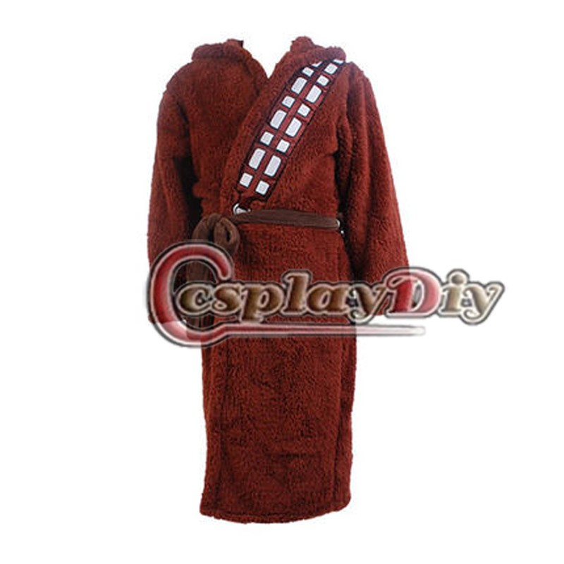 Cosplaydiy Movie Star Wars I Am Chewie Chewbacca Robe Sleepwear Pajamas Onesie Bathrobe Adult Men Cosplay Costume Custom Made