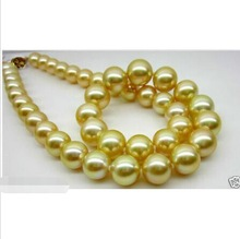 Fine Elegant AAA+ 11-12mm south sea gold pearl necklace  CLASP Factory Wholesale price Women Gift word JewelryFine Elegant AAA+ 11-12mm south sea gold pearl necklace  CLASP Factory Wholesale price Women Gift word Jewelry