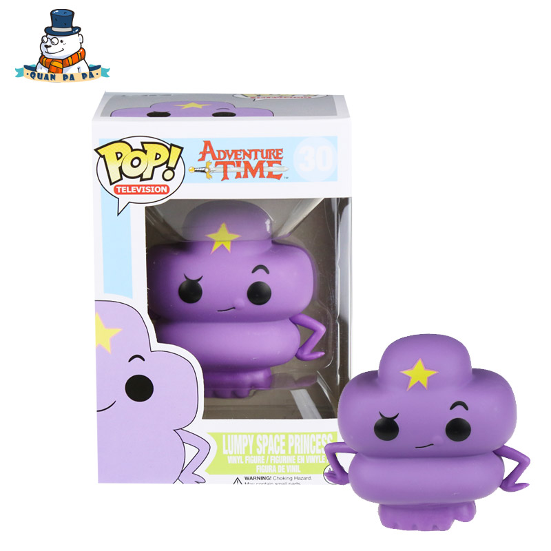 [QuanPaPa] New Genuine FunKo POP Adventure Time Lumpy Space Princess 30 Model Action Figurine doll car Decoration kids toys adventure time фигурка adventure time lumpy space princess с аксессуарами