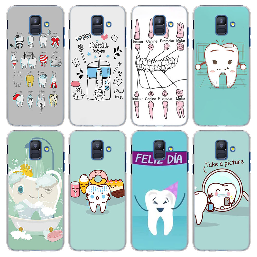 Beautiful Teeth Doctor Dentist Phone Case Soft Silicone Case For Samsung Galaxy A8 2018 Phone Cases For Samsung A5 J5 2017 Cover Phone Bags & Cases
