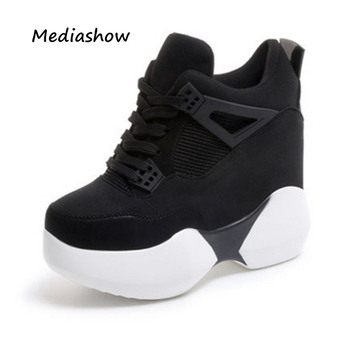 2018 Spring women Fashion Casual Shoes platform shoes sneakers women thick sole shoes Breathable woman wedges shoes white pink Туалет