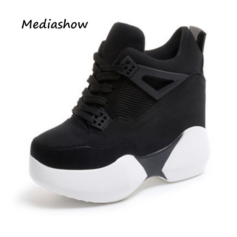 78dcd62fb610d 2018 Spring women Fashion Casual Shoes platform shoes sneakers women thick  sole shoes Breathable woman wedges