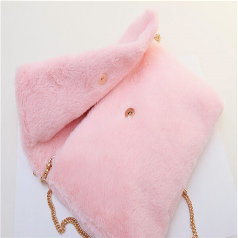 New Arrival Fashion Faux Fur Clutch Bag Casual Handbag Fur Velour Bags Sac  A Mains Femme Hot 2018 Winter Chain Clutch Bag LYDIAN-in Clutches from  Luggage ... ee7b31f473f89
