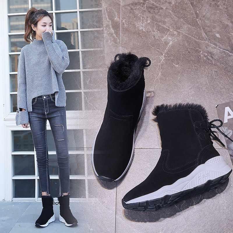 Weweya/кроссовки из флока на платформе женские ботинки шнуровке с бантом бабочкой