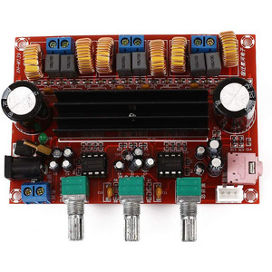 Image 4 - TPA3116 2.1 مضخم الصوت الرقمي مجلس XH HM139 TPA3116D2 مضخم الصوت مكبرات الصوت مكبرات الصوت DC12V 24V 2*50 واط مضخم الصوت 100 واط