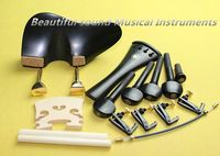 1set ebony wood 4/4 violin accessories bridge chinrest endpin