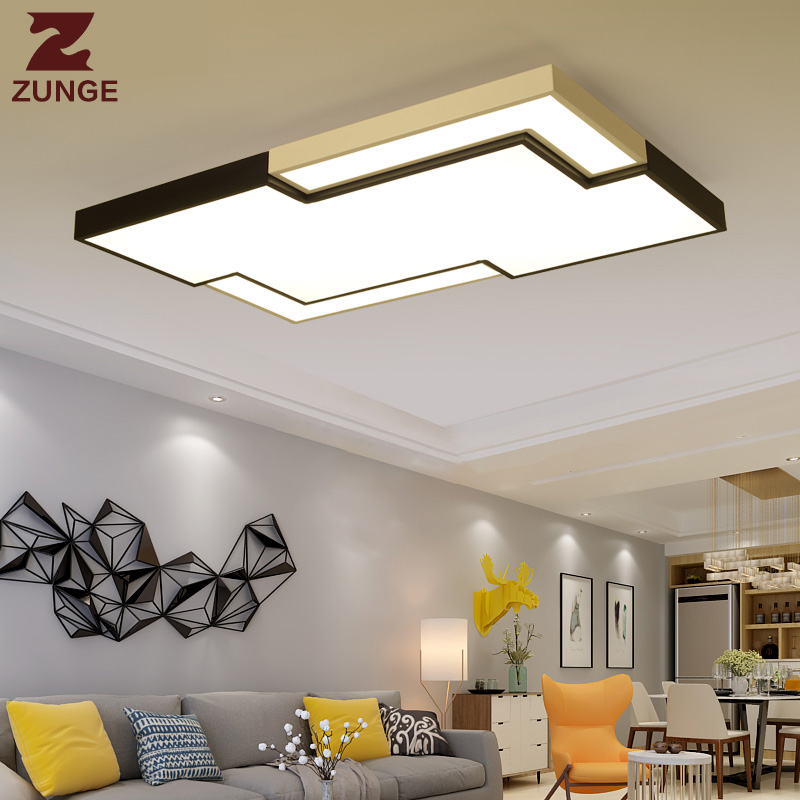 ZUNGE simple led ceiling light modern creative personality rectangular bedroom lamp P521 living room lamps rectangular living room lamp modern minimalist bedroom led crystal ceiling lamps creative personality hall restaurant lighting