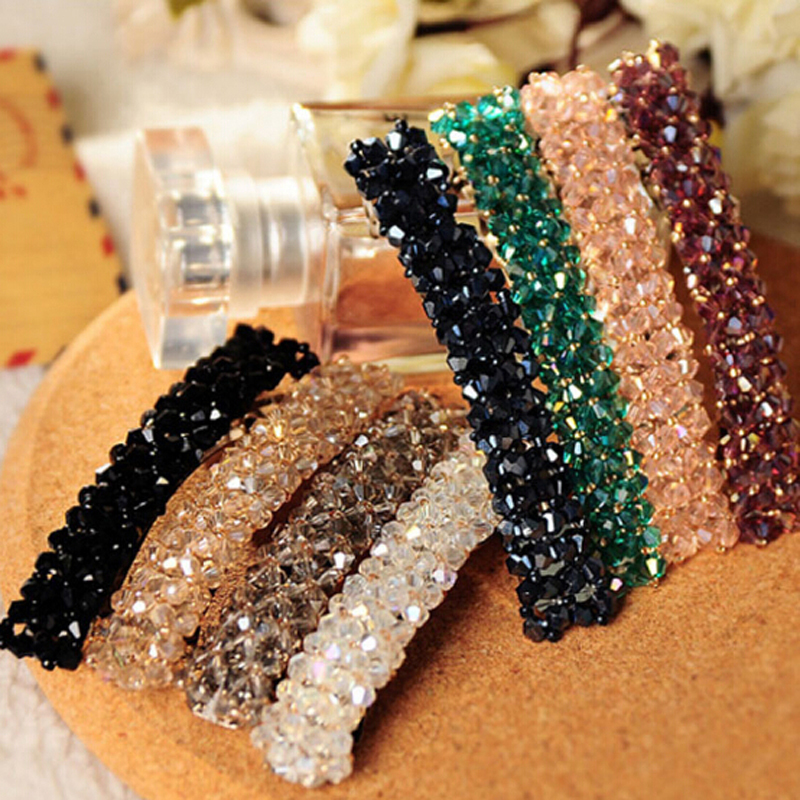 2015 Fashion Women Korean Crystal Barrette Hairpin Hair Clip Accessories Wholesale Free Shipping