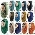 Мусульманский хиджаб исламский хиджаб женщин Мусульманское hijab джерси шарф хиджабах платки равнина шарфы Горячая Продажа