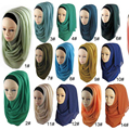 La mujer musulmán hijab islámico hijab Musulmán hijab bufanda jersey hijabs chales llanura bufandas de La Venta Caliente