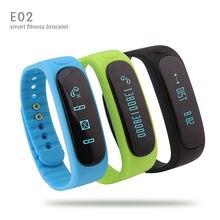 Smartband E02 Мода Bluetooth Смарт браслет фитнес-трекер Браслет Спорта Водонепроницаемый для IOS Android Смарт-Группы