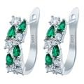Crystal Earrings For Women Silver Stud Earrings Pendientes Aretes De Mujer Bijoux Femme Boucle D Oreille Kupe Joyas 20
