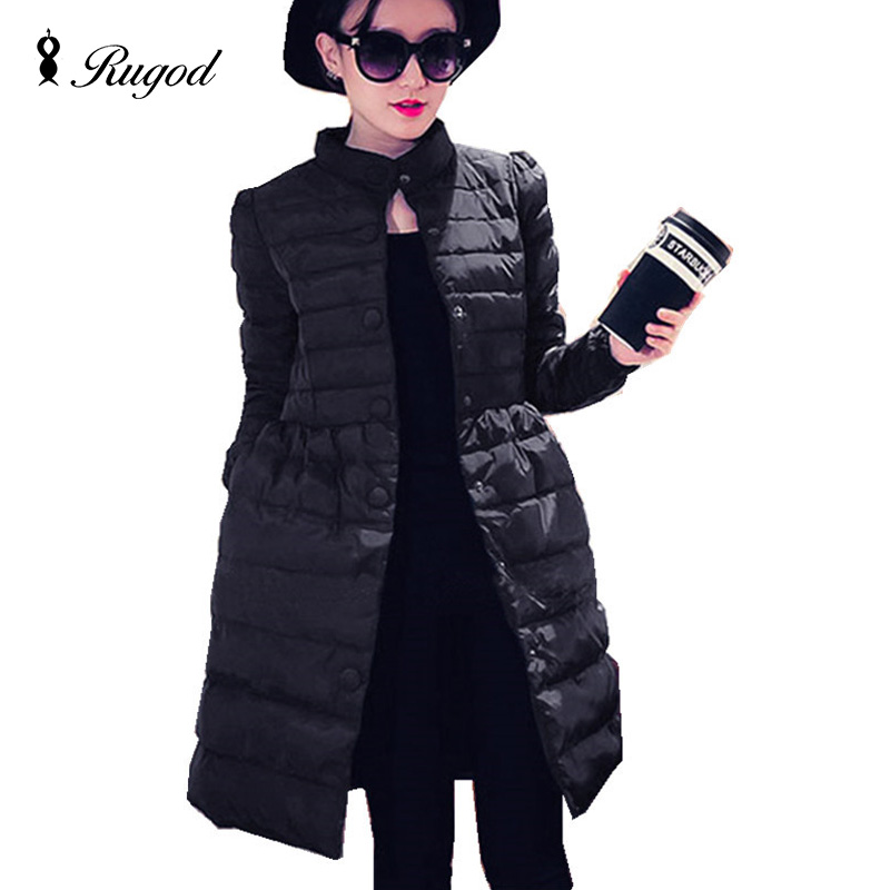 2017 Womens Winter Down Jackets and Coats Women High Quality Long Sleeve Slim Warm Parka Female