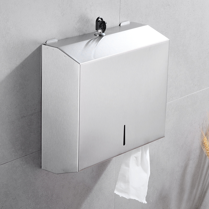 Toilet Paper Holder Box Waterproof Bathroom Stainless Steel Paper Towel Dispenser Wall Mounted WC Tissue Roll Paper Holder Rack in Paper Holders from Home Improvement