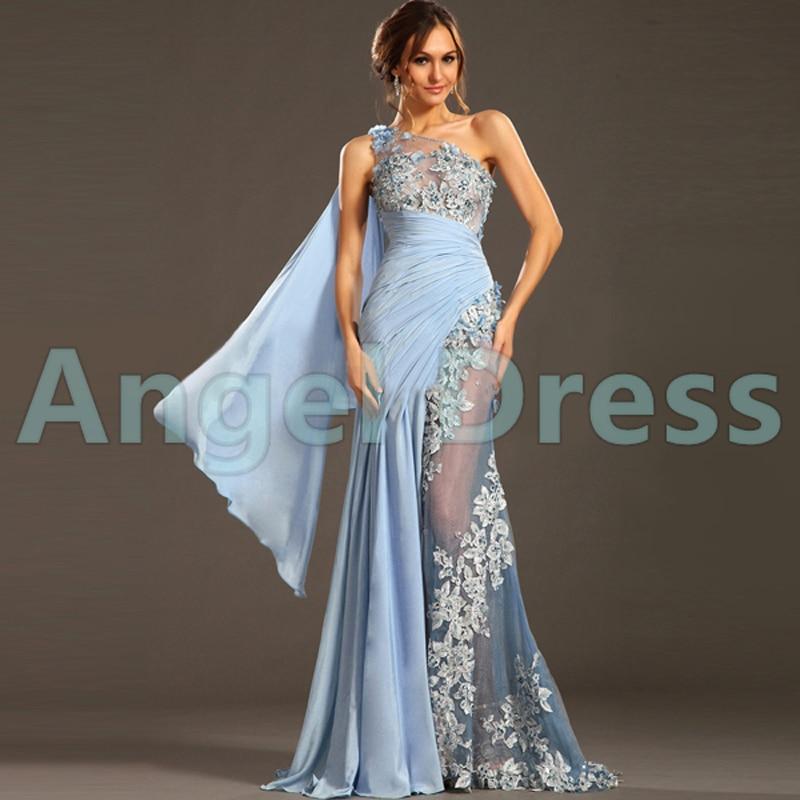 Luxury Arabia greek goddess evening dress One Shoulder Dubai Robe ...