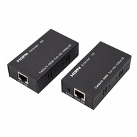 HDMI Extender Sender Receiver Over Single Cat5e Cat6 HD 60M 164FT 3D 1080p HDMI Splitter Switcher For HDTV DVD PC For PS3