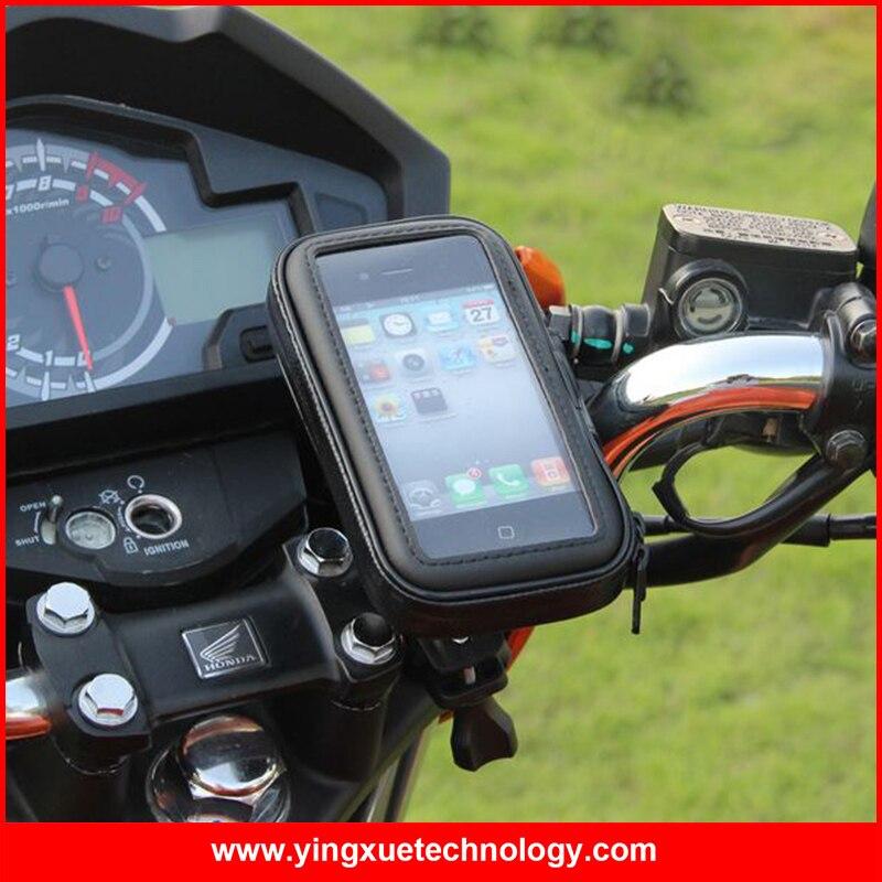imágenes para Moto de La Motocicleta Manillar Sostenedor Del Montaje con Resistencia Al Agua ajustable Cremallera Caso de Los Teléfonos Móviles