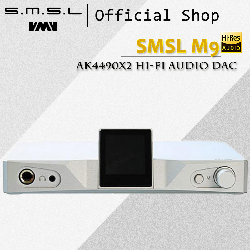 SMSL M9 AK4490x2 Hi-Fi Audio DAC Digital Balanced Headphone Amplifier with Optical Coaxial USB Input 32bit/768kHz DSD512 XMOS цена 2017