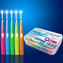 30pcs / box Qabaqcıl diş fırçası Çiçək Ağız Gigiyena Diş Kök Yumşaq Plastik Diş Çantası Diş Təmizlənməsi Ağız Baxımı üçün Sağlamdır.