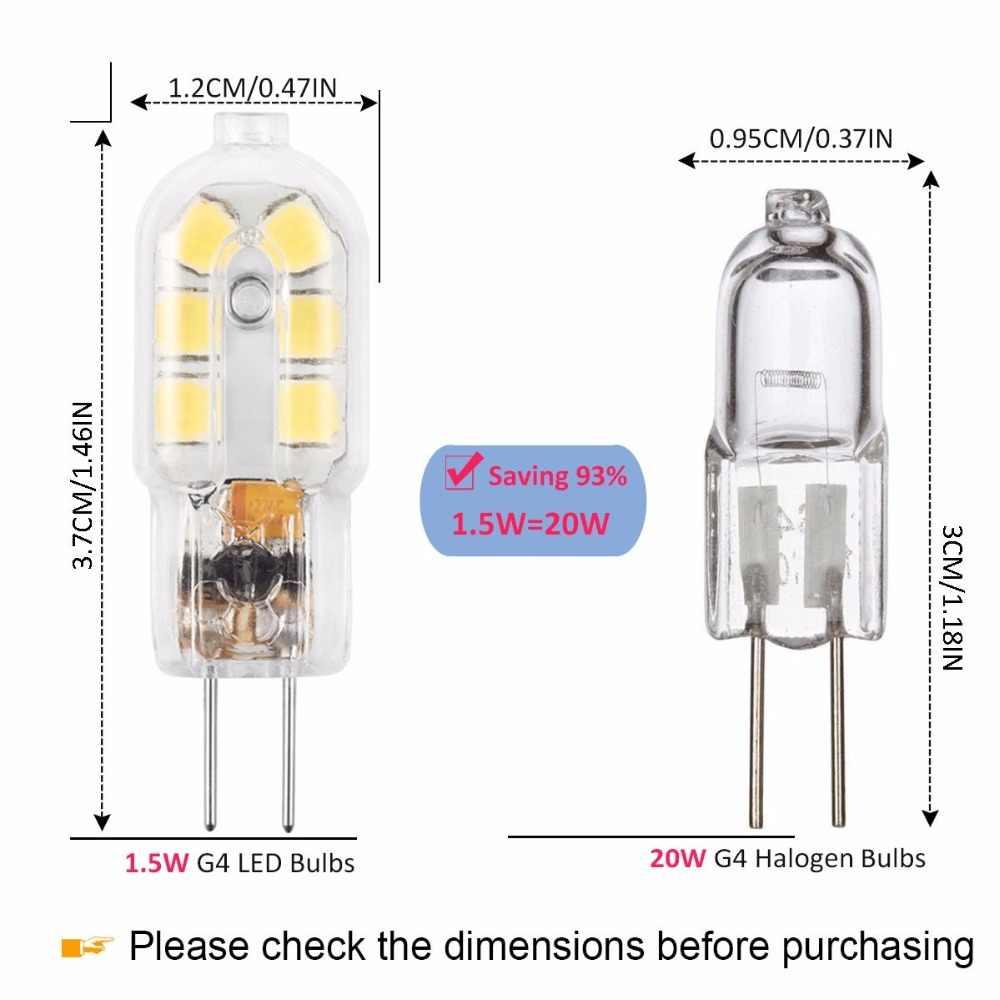 G4 светодиодный лампы, 12 V JC двухштырьковый лампы, 20 W галогенная лампа замены, теплый белый 3000 K, 5-Pack ST135