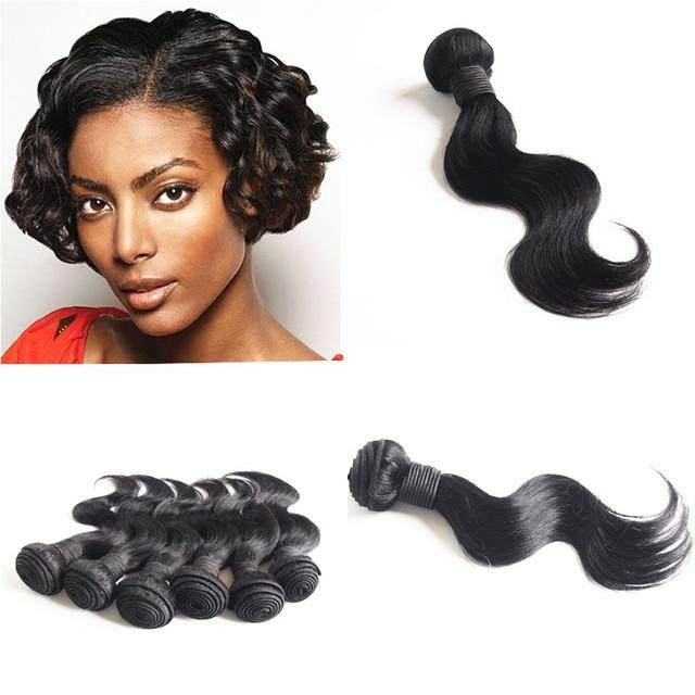 Amapro Hair Products 1pc 10inch Jet Black Brazilian Body Wave Short