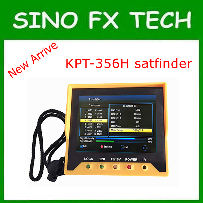 New arrival Fast Tracking Full HD Digital Satellite Finder Meter MPEG-4 DVB-S2 Modulator Sat Finder KPT 356H satlink ws 6908 3 5 lcd dvb s fta data digital satellite signal finder meter